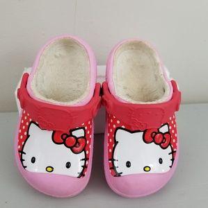 Hello Kitty insulated warm Crocs size 8 9